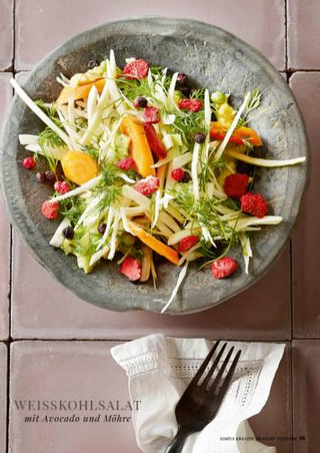 Rezept - Weisskohlsalat mit Avocado und Möhre - Simply Kreativ healthy - Darm in Topform - 01/2019