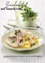 Rezept - Zanderfilet auf Sauerkraut - Simply Kreativ Extra – Leckere Ideen für den Thermomix® 01/19