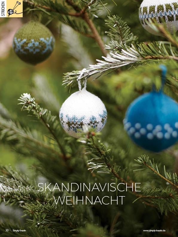 Strickanleitung - Skandinavische Weihnacht - Simply Kreativ - 01/2019