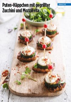 Rezept - Puten-Häppchen mit gegrillter Zucchini und Mozzarella - Simply Kreativ Healthy Diät-Sonderheft - Keto-Diät - 01/2019