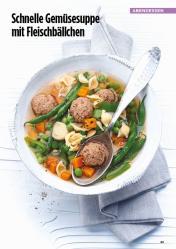 Rezept - Schnelle Gemüsesuppe mit Fleischbällchen - Simply Kreativ Healthy Diät-Sonderheft - Keto-Diät - 01/2019