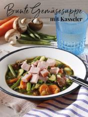 Rezept - Bunte Gemüsesuppe mit Kasseler - Simply Kreativ Thermomix® Diät Special 01/2019