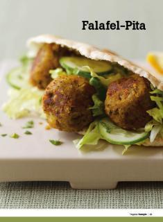 Rezept - Falafel-Pita - Healthy Vegan Sonderheft - Vegan - 01/2019