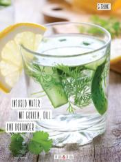Rezept - Infused Water mit Gurken, Dill und Koriander - Simply Kochen Sonderheft Detox 01/2019