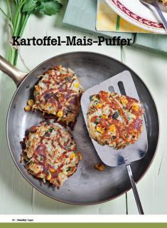 Rezept - Kartoffel-Mais-Puffer - Healthy Vegan Sonderheft - Vegan - 01/2019