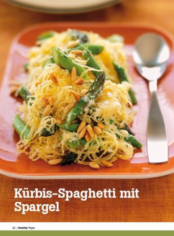 Rezept - Kürbis-Spaghetti mit Spargel - Healthy Vegan Sonderheft - Vegan - 01/2019