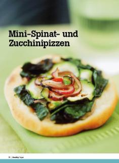 Rezept - Mini-Spinat und Zucchinipizzen - Healthy Vegan Sonderheft - Vegan - 01/2019