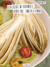 Rezept - Ofen-Chicoree mit Kurkumareis, grüner Soße, Tomaten & Thymian - Simply Kochen Sonderheft Detox 01/2019