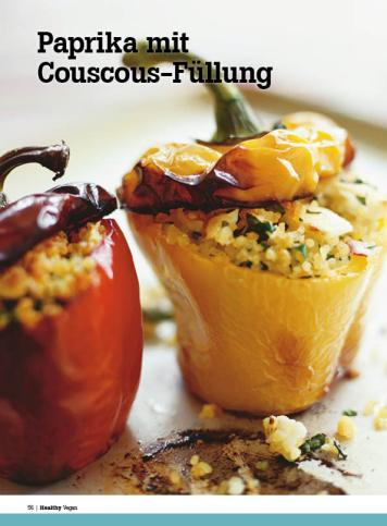 Rezept - Paprika mit Couscous-Füllung - Healthy Vegan Sonderheft - Vegan - 01/2019