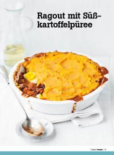 Rezept - Ragout mit Süßkartoffelpueree - Healthy Vegan Sonderheft - Vegan - 01/2019