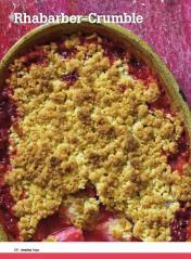 Rezept - Rhabarber-Crumble - Healthy Vegan Sonderheft - Vegan - 01/2019