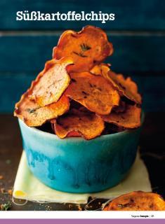 Rezept - Süßkartoffelchips - Healthy Vegan Sonderheft - Vegan - 01/2019