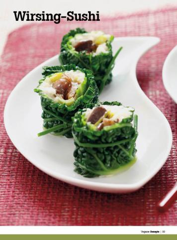 Rezept - Wirsing-Sushi - Healthy Vegan Sonderheft - Vegan - 01/2019