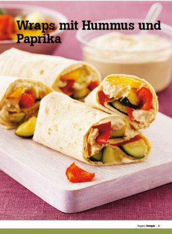 Rezept - Wraps mit Hummus und Paprika - Healthy Vegan Sonderheft - Vegan - 01/2019