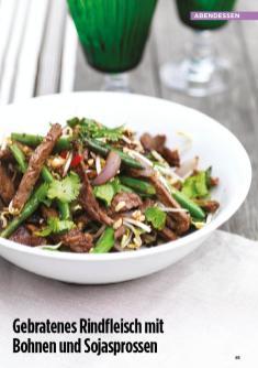 Rezept - Gebratenes Rindfleisch mit Bohnen und Sojasprossen - Simply Kreativ Healthy Diät-Sonderheft - Keto-Diät - 01/2019