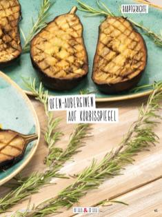 Rezept - Ofen-Auberginen auf Kürbisspiegel - Simply Kochen Sonderheft Detox 01/2019