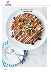 Rezept - Blaubeer Zitronen-Drizzle-Cake - Healthy Vegan 02/2019