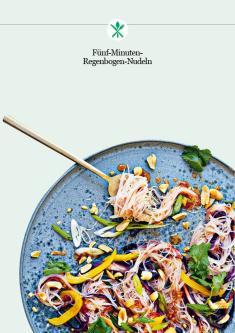 Rezept - Fünf-Minuten-Regenbogen-Nudeln - Healthy Vegan 02/2019