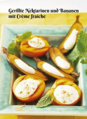 Rezept - Gerillte Nektarinen und Bananen mit Crème fraîche - Simply Kochen Sonderheft Zuckerfrei 01/2019