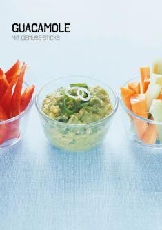 Rezept - Guacamole mit Gemüse-Sticks - Simply Kochen Sonderheft Paleo-Diät 01/2019