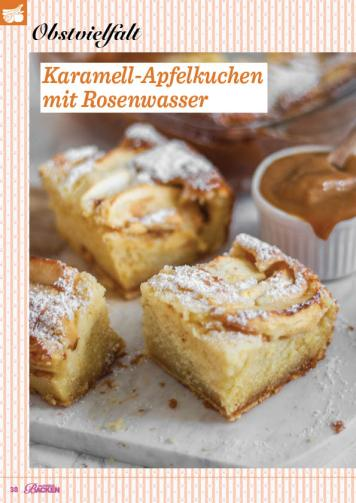 Rezept - Karamell-Apfelkuchen mit Rosenwasser - Das große Backen 02/2019