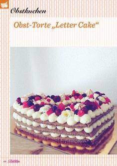 """Rezept - Obst-Torte """"Letter-Cake"""" - Das große Backen 02/2019"""