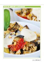 Rezept - Pasta mit Aubergine und Artischocken - Healthy Vegan 02/2019