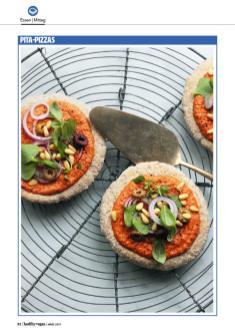 Rezept - Pita-Pizzas - Healthy Vegan 02/2019