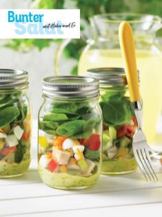 Rezept - Bunter-Salat mit Huhn und Ei - Simply Kochen Sonderheft - Frühlingssalate