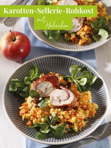 Rezept - Karotten-Sellerie-Rohkost mit Hähnchen - Simply Kreativ Extra – Leckere Ideen für den Thermomix® 02/2019