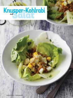 Rezept - Knusper-Kohlrabi auf Salat - Simply Kochen Sonderheft - Frühlingssalate