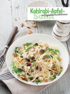 Rezept - Kohlrabi-Apfel-Salat mit Ziegenkäse und Walnüssen - Simply Kochen Sonderheft - Frühlingssalate