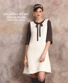 Strickanleitung - Das Glück ist mit den Mutigen - Ärmelloses Kleid - Designer Knitting 02/2019
