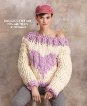 Strickanleitung - Das Glück ist mit den Mutigen - Herzpullover - Designer Knitting 02/2019