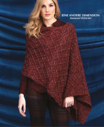 Strickanleitung - Eine andere Dimension - Diamant-Poncho - Designer Knitting 02/2019