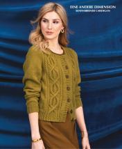 Strickanleitung - Eine andere Dimension - Senffarbener Cardigan - Designer Knitting 02/2019