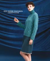 Strickanleitung - Eine andere Dimension - Türkiser Pullover - Designer Knitting 02/2019