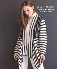 Strickanleitung - Es geht nichts über eine Dame - Gestreifte Jacke - Designer Knitting 02/2019