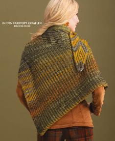 Strickanleitung - In den Farbtopf gefallen - Brioche-Tuch - Designer Knitting 02/2019