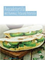 Rezept - Avocadotortilla mit Hummus, Feta und Petersilie - Simply Kochen Sonderheft - Ernährung in der Schwangerschaft - mit Nina Kämpf von Mamaaempf