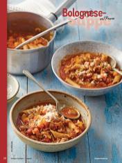 Rezept - Bolognese-Suppe mit Penne - Simply Kochen Sonderheft - Suppen und Eintöpfe - 01/2019