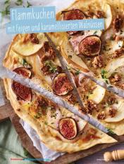Rezept - Flammkuchen mit Feigen und karamellisierten Walnüssen - Simply Kochen Sonderheft - Ernährung in der Schwangerschaft - mit Nina Kämpf von Mamaaempf