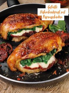 Rezept - Gefüllte Hähnchenbrust mit Parmaschinken - Bewusst Low Carb
