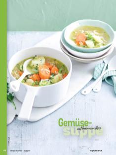 Rezept - Gemüse-Suppe mit braunem Reis - Simply Kochen Sonderheft - Suppen und Eintöpfe - 01/2019
