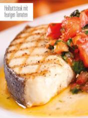 Rezept - Heilbuttsteak mit feurigen Tomaten - Bewusst Low Carb