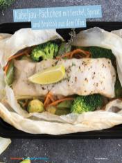 Rezept - Kabeljau-Päckchen mit Fenchel, Spinat und Brokkoli aus dem Ofen - Simply Kochen Sonderheft - Ernährung in der Schwangerschaft - mit Nina Kämpf von Mamaaempf