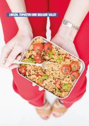 Rezept - Linsen, Tomaten und Bulgur-Salat - Healthy Vegan 03/2019