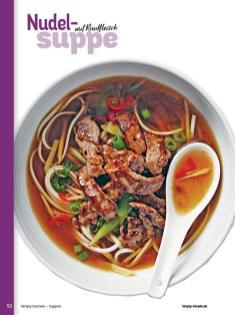 Rezept - Nudel-Suppe mit Rindfleisch - Simply Kochen Sonderheft - Suppen und Eintöpfe - 01/2019