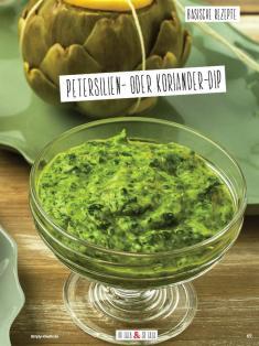 Rezept - Petersilien oder Koriander-Dip - Simply Kochen Sonderheft Basenfasten mit Andrea Sokol