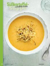 Rezept - Süßkartoffel-Suppe mit frittierten Nudeln - Simply Kochen Sonderheft - Suppen und Eintöpfe - 01/2019
